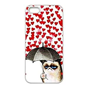 Cute Grumpy Cat Protective Rubber Back Fits Cover Case for iPhone 5 5s by Maris's Diary