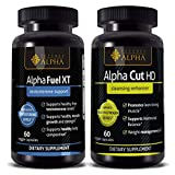 ALPHA FUEL XT & Alpha Cut HD - TESTOSTERONE libido Sex Booster for Men & Women, 60 CAPSULE - Science of Alpha