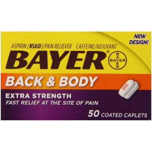 Bayer Extra Strength Back and Body Caplets - 50 per pack -- 36 packs per case.