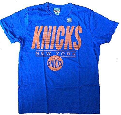 Mens Junk Food New York Knicks Retro Tee Shirt in Blue (X-Large)
