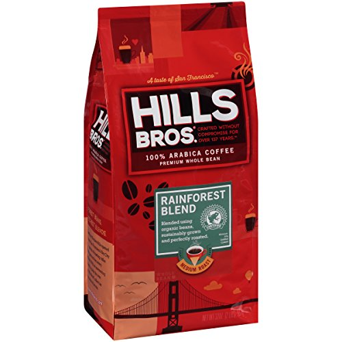 Hills Bros Coffee, Rainforest Gradate Medium Roast Whole Bean, 32 Ounce