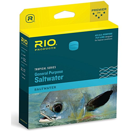 RIO Fly Fishing Fly Line Tropical Saltwater Ii Wf12I/I Fishing Line, Clear-Tip-Trans-Green