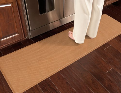 "GelPro Classic Anti-Fatigue Kitchen Comfort Chef Floor Mat, 20x72"", Basketweave Black Stain Resistant Surface with ½"" gel core for health & wellness by GelPro (Image #5)'"