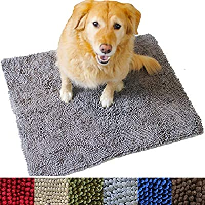 Soft Absorbent Microfiber Chenille Dog Pet Bath Floor Door Mat New Colors Sizes
