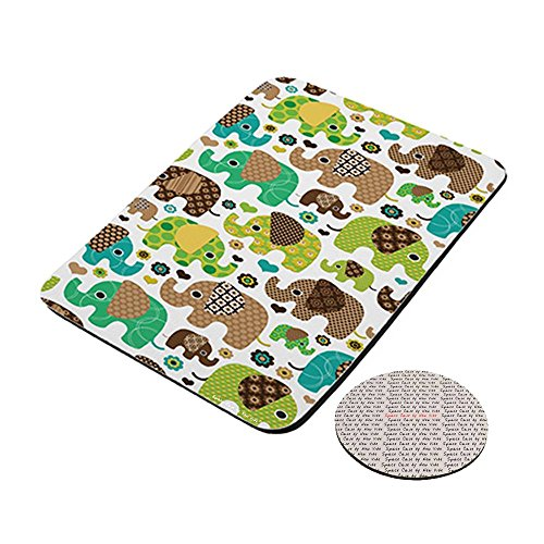 Baby Elephant Love Hearts - Space Case by New Vibe Mousepad & Drink Coaster -