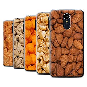 STUFF4 Gel TPU Phone Case / Cover for LG K8 2017/M200 / Pack 17pcs / Snacks Collection