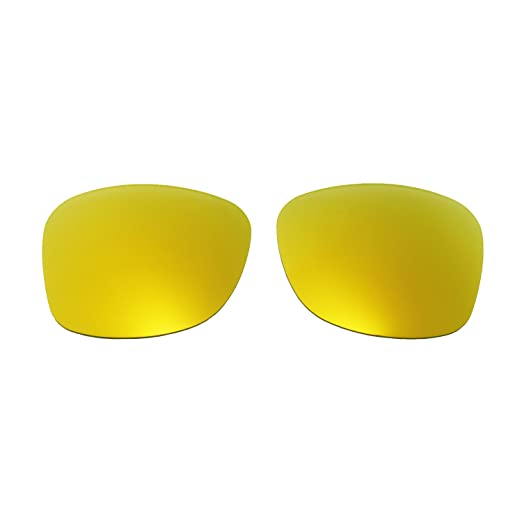 cd7d409de4 Amazon.com  Walleva Replacement Lenses for Ray-Ban Wayfarer RB2140 50mm- 5  Options (24K Gold - Polarized)  Clothing