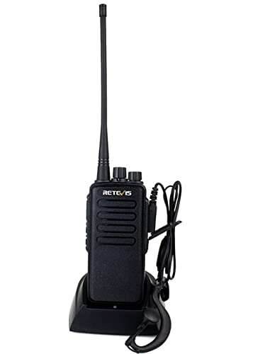 Retevis RT1 Walkie Talkies Long Range High Power UHF 16CH Scan VOX Encryption Two Way Radio with Earpiece 1 Pack