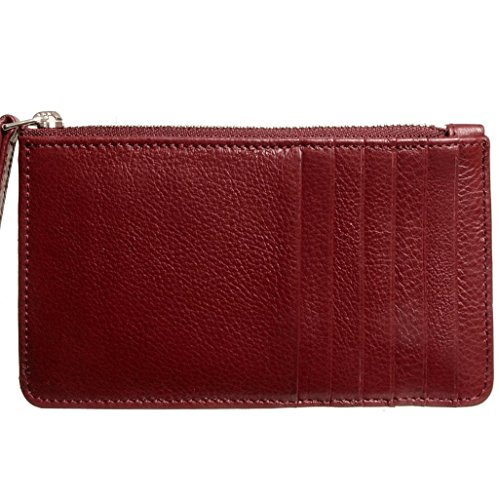 Calf Grained Calf 5 Zip 5 Grained Rosewood CC Leather CC Brown Wallet Leather TxqcwdFwf