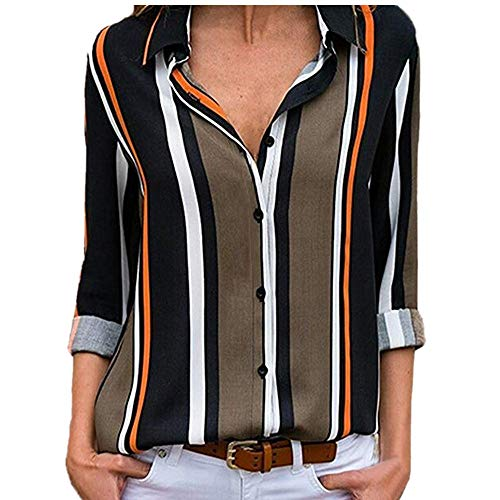 Chic Top Up Chimie V Chemisier Champion Top Shirt Femme Multicolore Button Noir Longues Col MORCHAN Manches Chemisier Chemise 1 Ray Blouse Mode Tunique Classique WOqH0fU6w