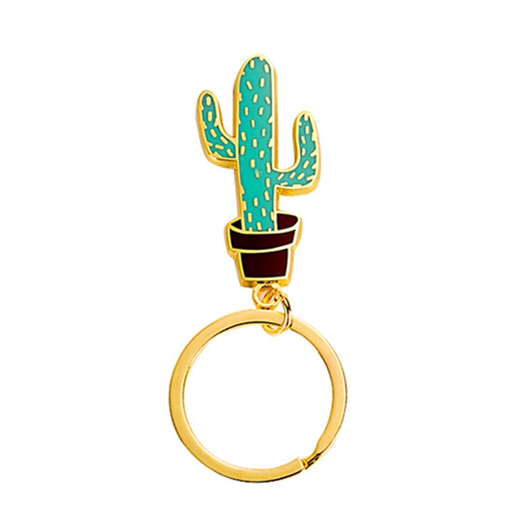 Demarkt Cute Cactus Keychain Hanging Ornament Purse Bag Keyrings for Women (Cactus F)