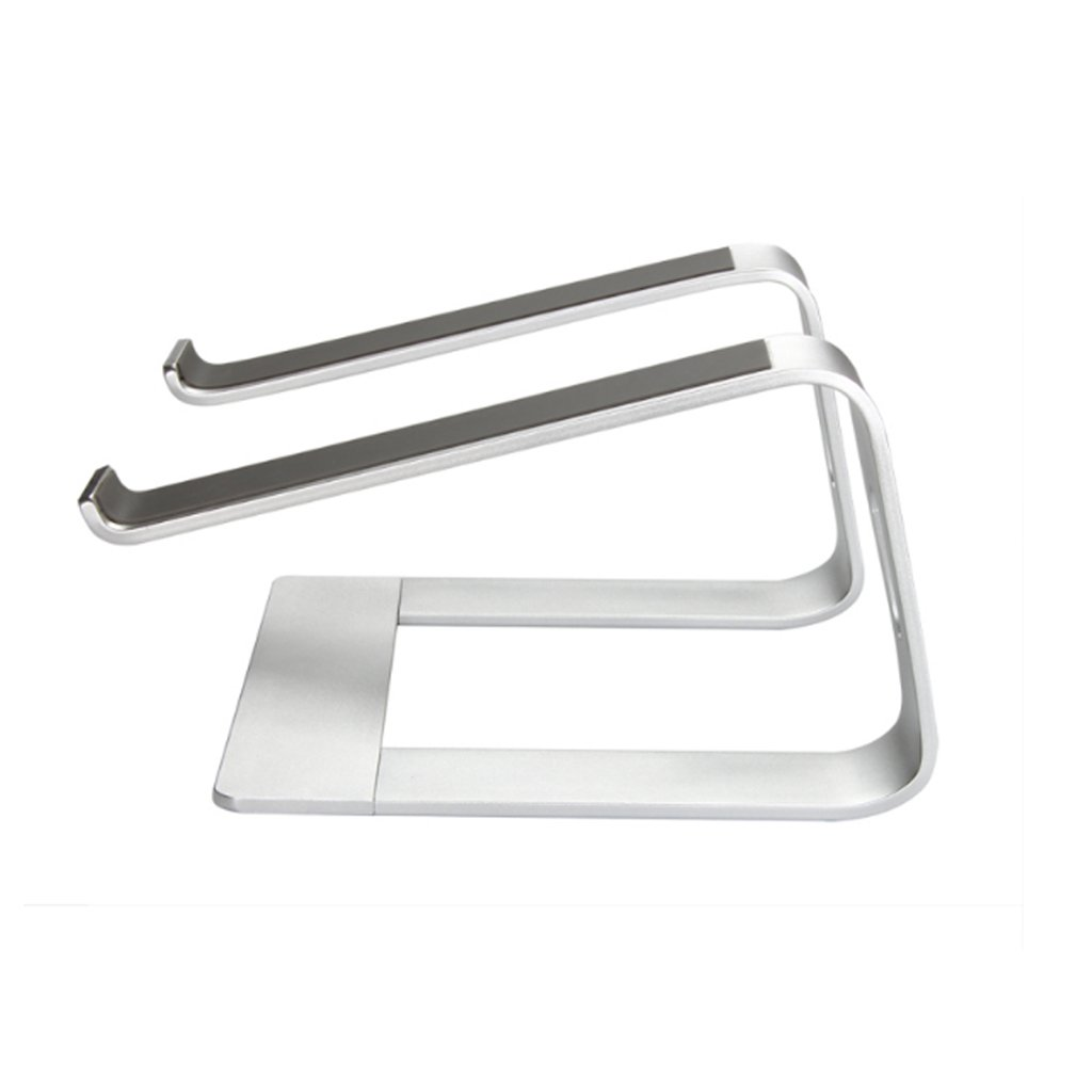XY Soap dish Laptop Stand, Raised Rack Cooling Aluminum Alloy Computer Stand, Increased Desktop Stand Cervical, Aluminum Alloy Computer Stand, Silver Laptop Stand, 26 Cm 22.5 Cm 14.5 Cm by XY Soap dish (Image #4)
