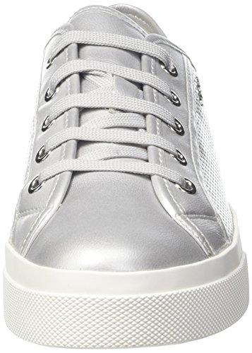 Geox D Hidence a, Zapatillas para Mujer Plateado (SILVERC1007)