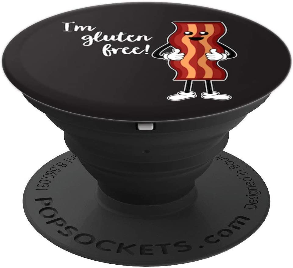Amazon Com Bacon Is Gluten Free Happy Dance To Eat Lots Of Bacon Funny Popsockets Grip And Stand For Phones And Tablets