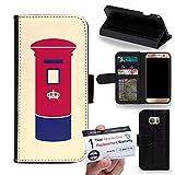 Case88 [Samsung Galaxy S7 Edge] PU Leather Wallet / Flip Case & Warranty Card - Art London Cityscape London LetterBox 2060