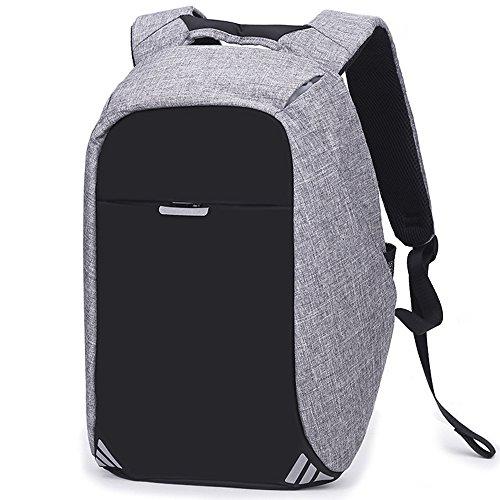 JUND Unisex Nylon Freizeit Schultasche Herren Rucksack Schule Jungen Laptoprucksack 15 6 Zoll Dayback Business Wasserdicht Backpack grau