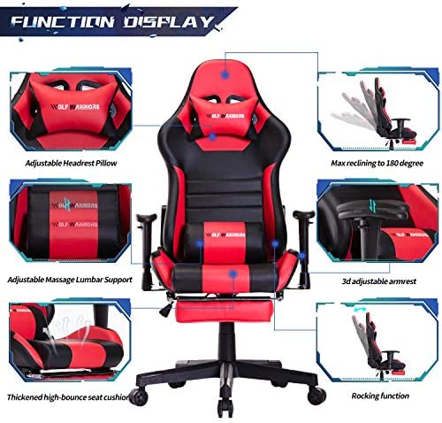 Reviewed: Ergonomic Gaming Chair Racing Style Adjustable Height High Back PC Computer Chair