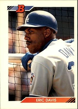 Amazoncom 1992 Bowman Baseball Card 671 Eric Davis Mint