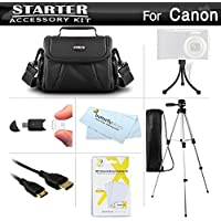 Starter Accessories Kit For The Canon PowerShot SX500 IS, SX510 HS, SX520 HS, SX530 HS, SX540 HS Digital Camera Includes Carrying Case + 50 Tripod + Mini HDMI Cable + LCD Screen Protectors + More Noticeable Review Image