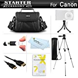 Starter Accessories Kit For The Canon PowerShot SX500 IS, SX510 HS, SX520 HS, SX530 HS, SX540 HS Digital Camera Includes Carrying Case + 50 Tripod + Mini HDMI Cable + LCD Screen Protectors + More