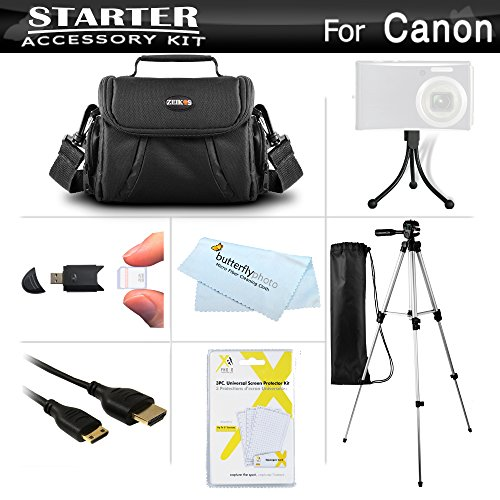 Starter Accessories Kit For The Canon PowerShot SX500 IS, SX510 HS, SX520  HS, SX530 HS, SX540 HS Digital Camera Includes Carr