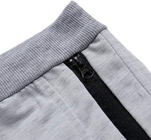 メンズウエストタイ緊密編みスリムフィットスポーツパンツ