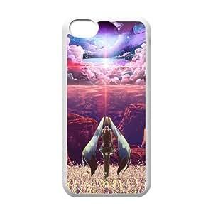 J4J81 Hatsune Miku G8I2WL funda iPhone funda caso 5c teléfono celular cubren HX3STY8QT blanco