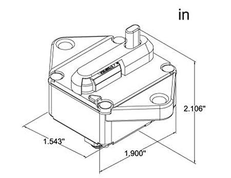 Amazon Com 12v 48v Dc 150amp Circuit Breaker For Solar Panel