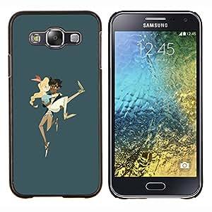 """Be-Star Único Patrón Plástico Duro Fundas Cover Cubre Hard Case Cover Para Samsung Galaxy E5 / SM-E500 ( Amor de los pares de la historieta cómica de la muchacha del muchacho Llevar"""" )"""