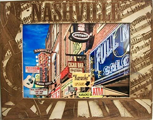 Tennessee Laser - Nashville Tennessee Laser Engraved Wood Picture Frame (5 x 7)