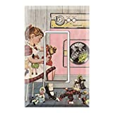 laundry room makeovers Graphics Wallplates - American Doll Laundry Room- Single Rocker/GFCI Outlet Wall Plate Cover