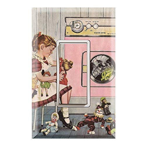Graphics Wallplates - American Doll Laundry Room- Single Rocker/GFCI Outlet Wall Plate Cover