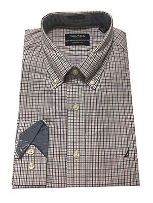 Nautica Men's Long Sleeve Classic Fit Cotton Dress Shirt