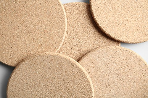 Natural Cork Coaster with Holder, Absorbent Coaster for Wine, Best for Drinks in Office, Home, or Cottage,Round, Set of 16, 4 inches by LAUCHUH (Image #6)