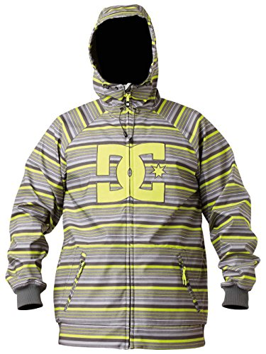 Shell Dc Spectrum Soft (DC Spectrum 13 Softshell Jacket - Men's Lime Stripes, XL)
