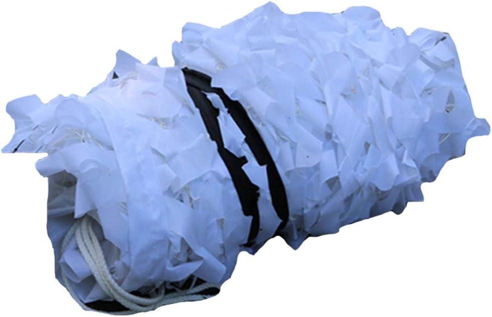 遮光網 雪 迷彩ネット 端 パティオ バルコニー シェーディングネット 43サイズ 縦断勾配 E (Color : 白い, Size : 6×9m) 白い 6×9m