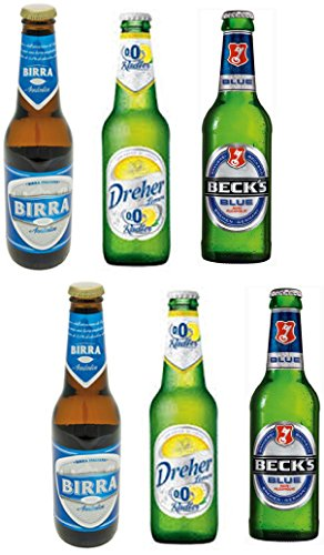Vittleitaly  Non Alcoholic Beer Variety Pack   Includes Three Different Non Alcoholic Beers 11 15 Fluid Ounce  33Cl  Bottle  Pack Of 6    Italian Import