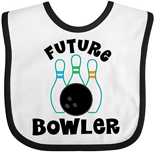 Inktastic - Future Bowling Childs Bowling Baby Bib White/Black