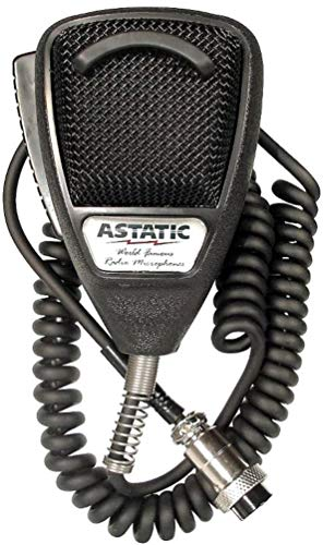 Astatic 636LB1 Dynamic Noise Canceling 4-Pin CB Microphone, Rubberized Black For use with CB Amateur Radio and SSB Communications, Designed for Close Talking Handheld Applications