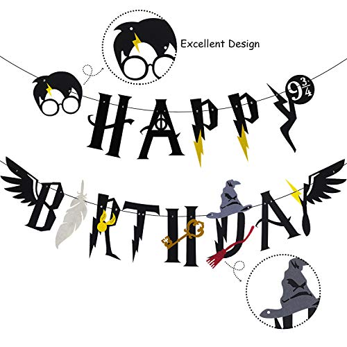 Amazon Com Harry Potter Inspired Happy Birthday Banner Wizard
