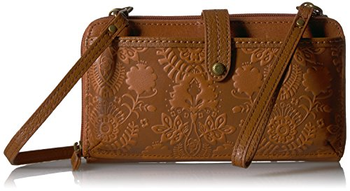 The Sak Iris Large Smartphone Crossbody, Tobacco Floral Embossed