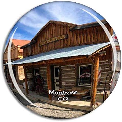 モントローズマウンテンウェストミュージアムコロラド米国冷蔵庫マグネット3Dクリスタルガラス観光都市旅行お土産コレクションギフト強い冷蔵庫ステッカー