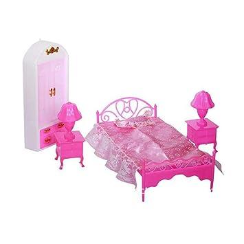 Originaltree 4pcs Kids Girl Play House Doll Schlafzimmer Bettlampe ...