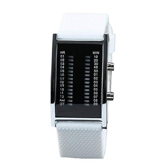 Reloj De Mujer De Cuarzo De Las Señoras Reloj Digital Cuadrado Led Casual con Aleación +