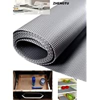 ZHENGTU 1 Piece Useful and Multipurpose Full Length 5 Meter (45 X 500) Anti Slip Grip, Non Slip Liner, Skid Resistant Mat, Material PVC. Color: Gray