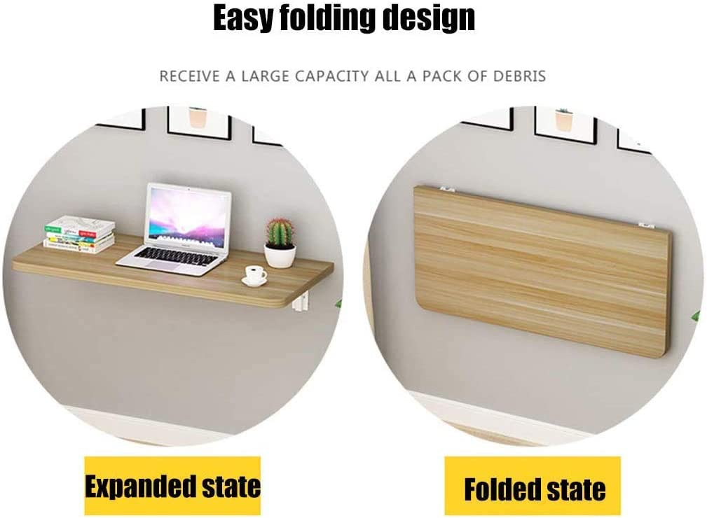 ZDY Small Fold Down Kitchen Table Wall Mounted Workbench Heavy Duty Fold Fown Dining Table Computer Desk Wall Hanging Folding Solid Wood Drop-Leaf Table.