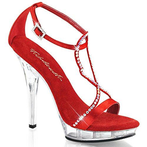 Fabulicious Lip-156 - sexy chaussures Femmes talon hauts mini plateau sandalettes 35-43