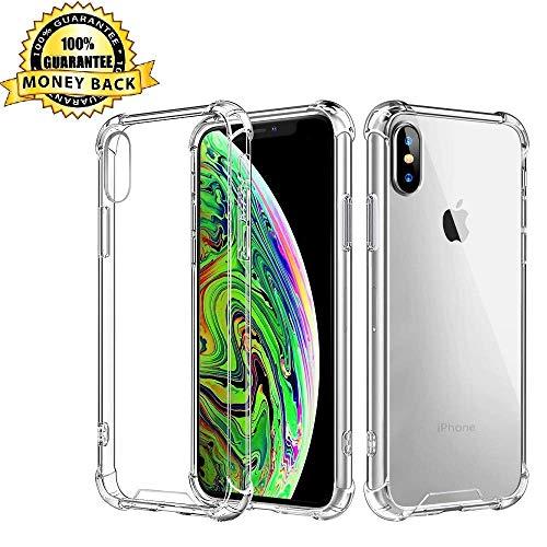 iPhone XS Max Case, Slim Fit Cover Case Soft TPU Crystal Clear Protective iPhone XS Max Cover Case Compatible Apple iPhone Xs Max/iPhone Xs Plus 6.5 inch 2018.