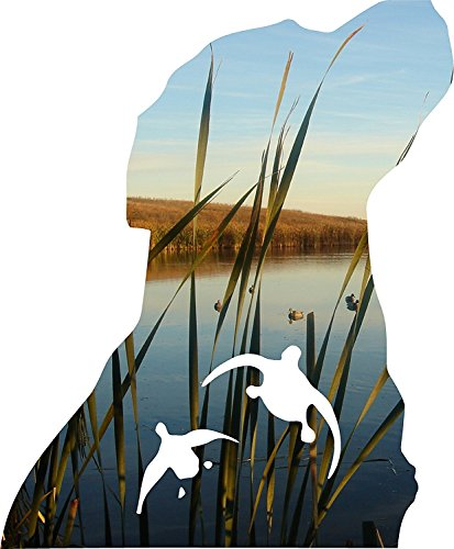Hunting Dog Decal (Yeti cup size 3 x 4 inch The Famous Dog and Duck Decal Sticker)