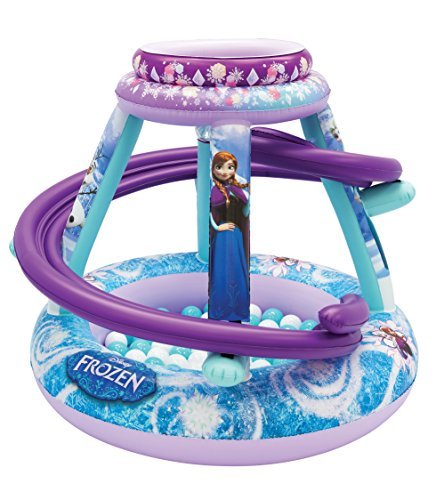Frozen Forever Sisters Ball Pit, 1 Inflatable & 50 Sof-Flex Balls, Blue/Purple, 43